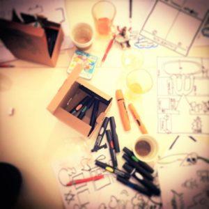 Billede fra kurset i grafisk facilitering